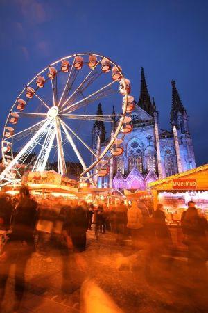 L\'ambiance du Marché de Noël de Mulhouse