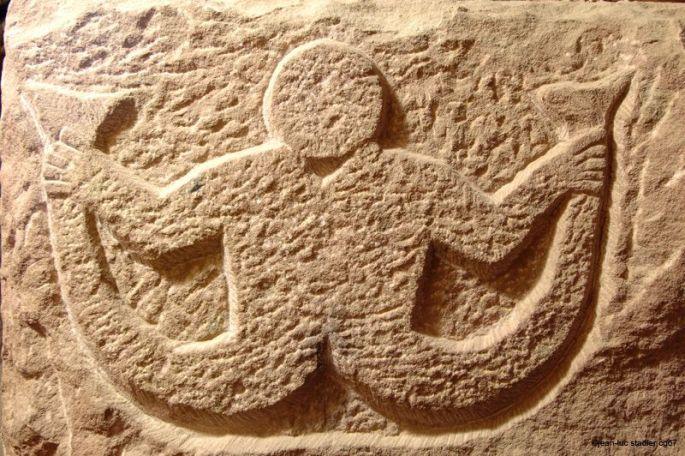 Détail d\'une sculpture au château du Haut-Koenigsbourg