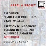 Appel à candidature expo «L\'art est-il partout ?»
