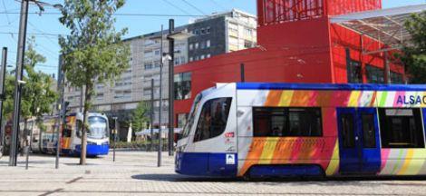 Arrêt Thann gare  - Tramtrain de Mulhouse