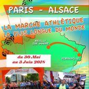 Arrivée du Paris Alsace à la marche 2017