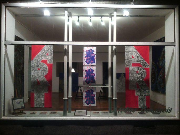 La vitrine de l\'Atelier Bourgois à Mulhouse