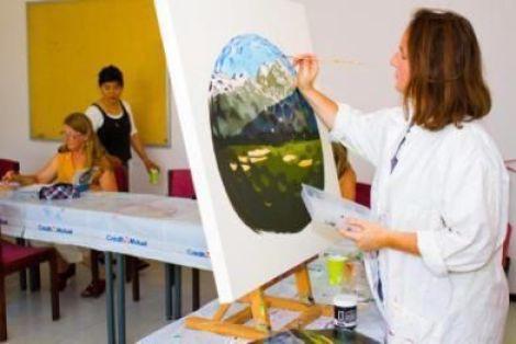 Atelier peinture avec Kyung Bouhours