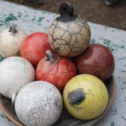 Atelier raku : La boule de Noël