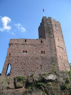 Attention de ne pas tomber du haut donjon du château !