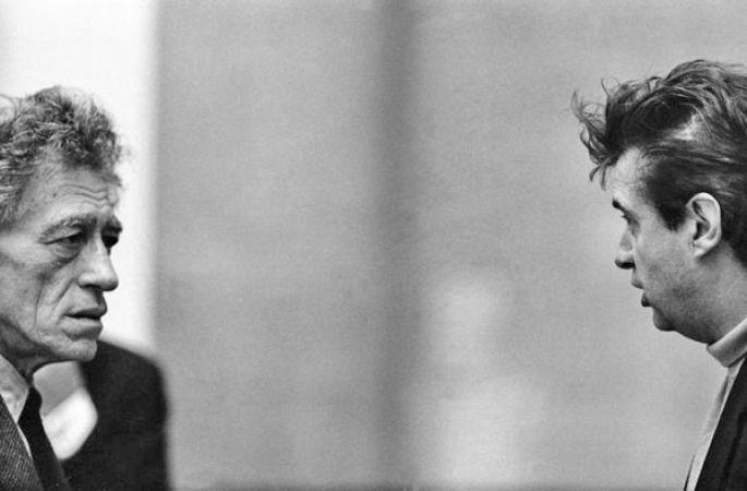 Alberto Giacometti et Francis Bacon à la Tate Gallery, Londres (1965)
