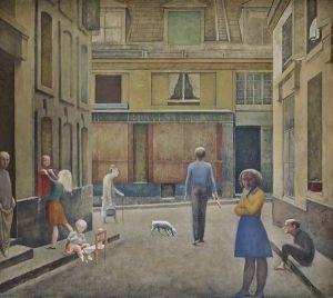 Balthus, Passage du Commerce-Saint-André, 1952–1954 - Huile sur toile, 294 x 330 cm, Collection privée © Balthus