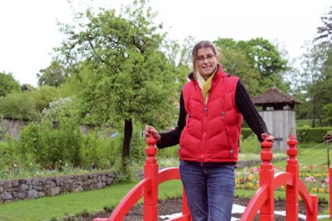 Barbara Marion, responsable jardin et projet du Parc de Wesserling.