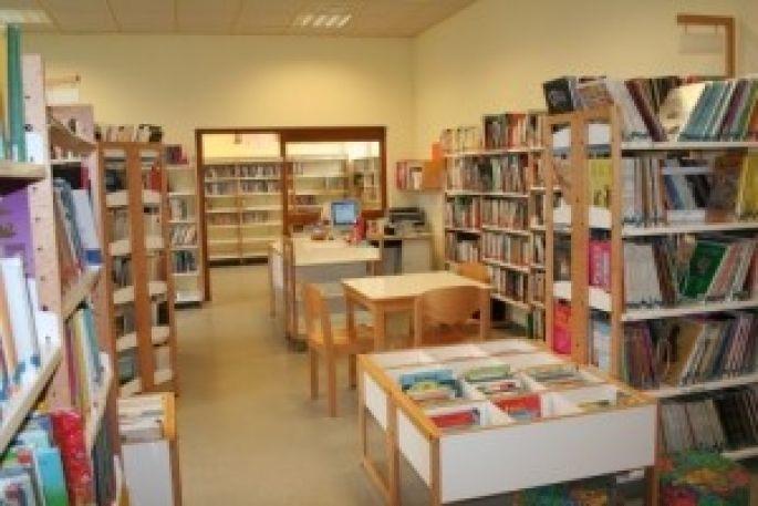 L\'intérieur de la bibliothèque de Drulingen