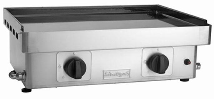 Plancha à poser EM60P - Plaque en acier émaillé de 61x41 cm