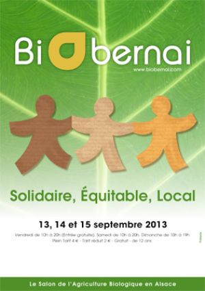 BiObernai, le salon de l\'Agriculture Bio Alsacienne, se déroule les 13, 14 et 15 septembre 2013 à Obernai