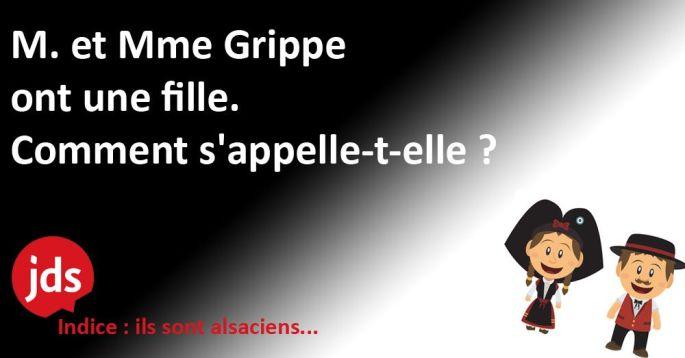 Blague alsacienne : M. et Mme Grippe...