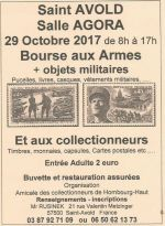 Bourse aux armes et aux collectionneurs 2017 à Saint-Avold