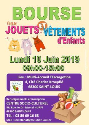 Bourse aux jouets et vêtements d'enfants à Saint-Louis 2019