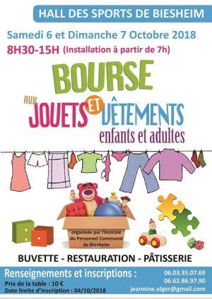 Bourse aux jouets et vêtements d\'enfants et adultes 2018 à Biesheim