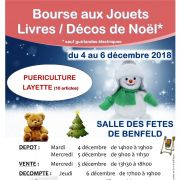 Bourse aux jouets, livres et décorations de Noël