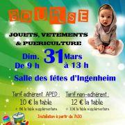 Bourse aux jouets, vêtements et puériculture à Ingenheim 2019