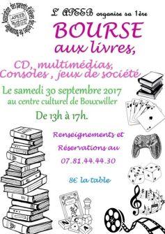 Bourse aux livres à Bouxwiller (67) 2017