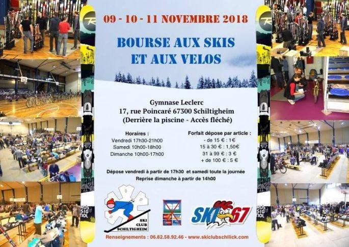 Bourse aux skis et aux vélos à Schiltigheim 2017