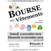 Bourse aux vêtements et accessoires pour enfants au Moulin 9 2019
