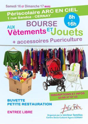 Bourse aux vêtements, jouets et accessoires de puériculture à Cernay 2019