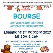 Bourse aux vêtements, jouets et puériculture à Bouxwiller (67) 2018