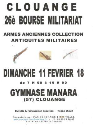 Bourse Militariat et multi-collections à Clouange 2018