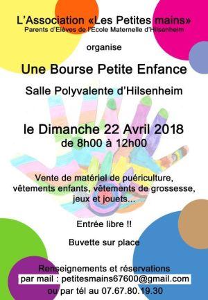 Bourse petite enfance à Hilsenheim 2018