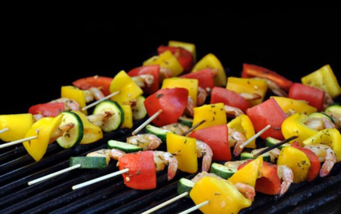 Brochette de légumes au barbecue