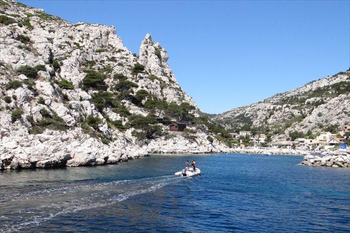 Une calanque de Marseille