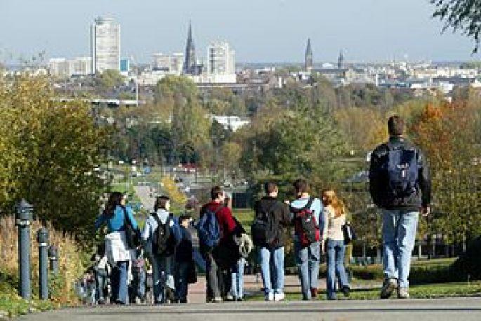 Le campus de l\'Illberg, à Mulhouse.