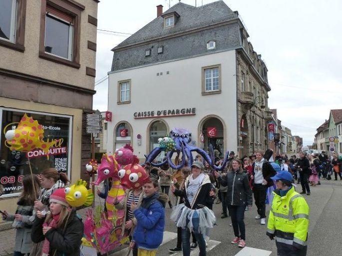 Les enfants lors du Carnaval de Brumath