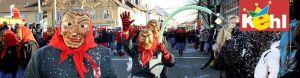 carnaval a kehl (allemagne) - defile du carnaval, cavalcade dans les rues, groupes