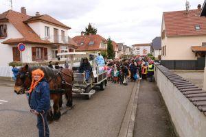 illkirch graffenstaden - festivites de carnaval cavalcade des enfants