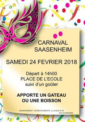 Carnaval de Saasenheim 2018 : Carnaval des enfants