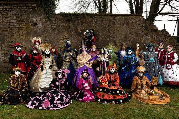 Les costumées de La LongoVénitienne, le carnaval vénitien de Longwy