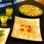 La recette du carpaccio de poisson blanc, sauce pignons