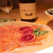 La recette du carpaccio de saumon à l'orange sanguine.