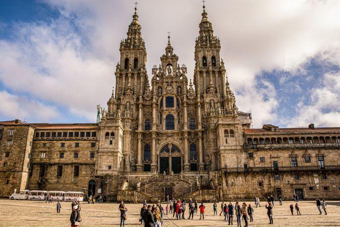 La magnifique cathédrale de Santiago de Compostela en Galice (Espagne)