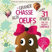 Chasse aux oeufs de Pâques à Lunéville 2018