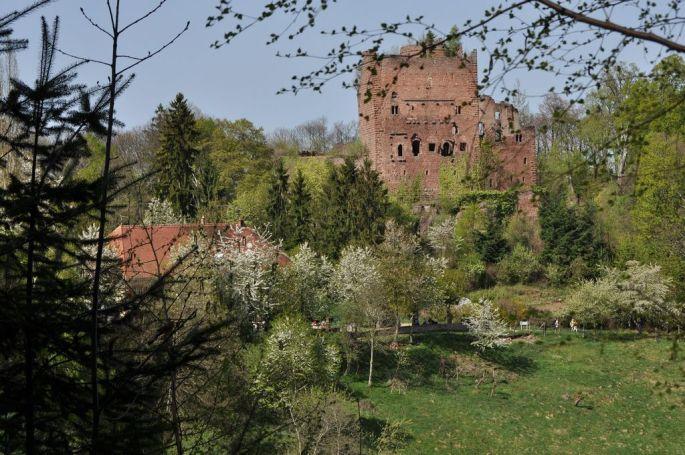 Le château et sa façade incroyablement conservée