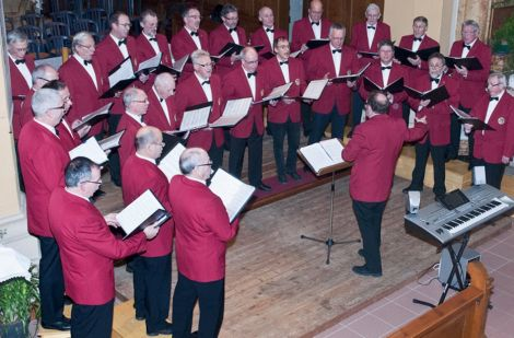 Le Choeur d\'hommes du Florival lors de son Concert de l\'Avent à Berrwiller le 7 déc 2013