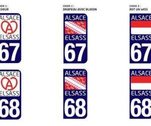 Choisissez le logo de vos plaques d'immatriculation alsaciennes !