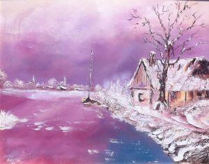 Un paysage enneigé de Christian Knapik