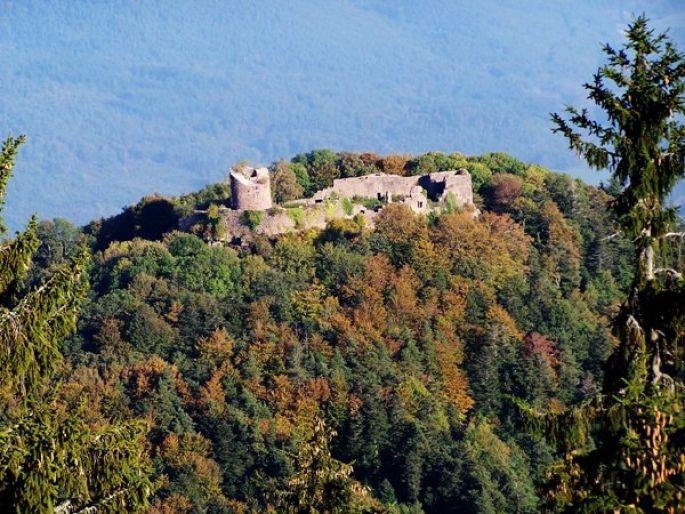 Les ruines du château du Frankenbourg