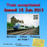 Train entre Metzeral, Colmar et Freiburg