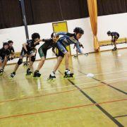 Compétition indoor de roller de vitesse