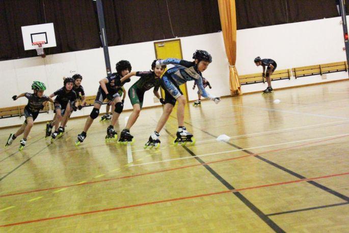 Entraînement de patinage de vitesse