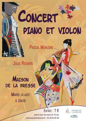 Concert classique, piano et violon