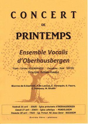 Concert de printemps - Ensemble Vocalis